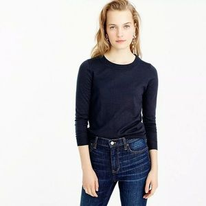 J.Crew Tippi Sweater Merino Wool Navy Blue
